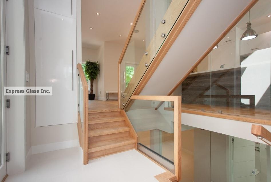 Stand off glass railing