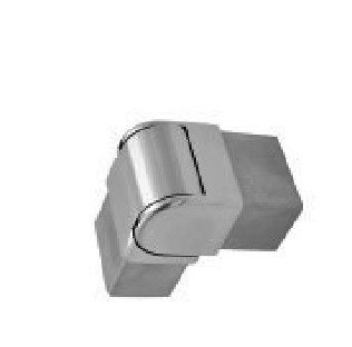 IEB2521ADJVBS Adj. Elbow Elbow Vertical Mini Caprail for 25x21 Tube SS