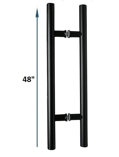 "IGH5536X36BL Matte Black CTC 36"" Ladder Back-to-Back Pull Overall 48"""