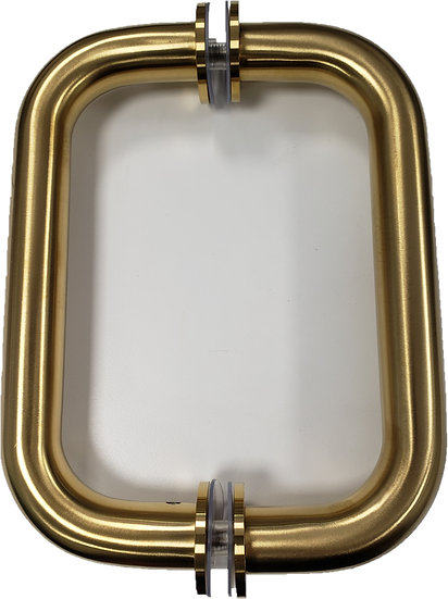 "IGH6X6DCMBG Brushed Gold Shower Door D-Handle CTC  6"""