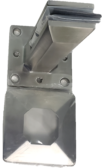"""ISQSPGSM2205S Square Surface Mount Spigot SS2205 For 3/8""""-1/2"""" Glass"""