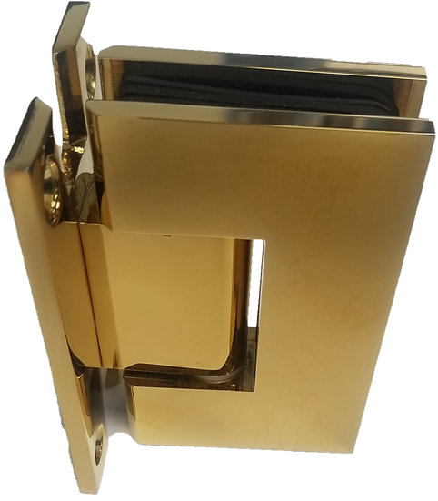 H-ISH111EDGP Gold Plated Wall To Glass Hinge (H Plate)