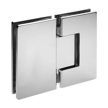 ISHV222EDBN Brushed Nickel Heavy Duty Glass to Glass 180 Degree Hinge