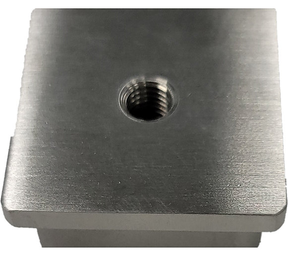 IECSQWH16S Square End Cap With M8 Hole SS316