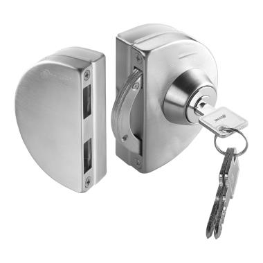 IPL4A4BBSS Brushed Stainless Glass To Glass Lock No-Cutout