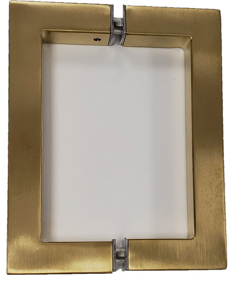 IGH6X6EDBG Brushed Gold Square Back To Back CTC 6inch Handle