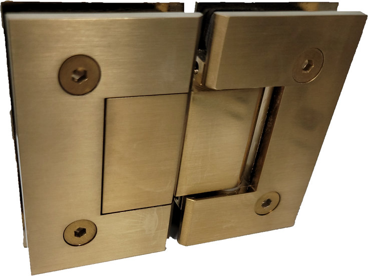 ISH222EDBG Brushed Gold 180-Degree Glass to Glass Door Hinge