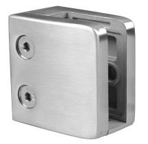 IGCSMLSQF16S SMALL SQUARE GLASS CLIP SS316 FOR FLAT POST