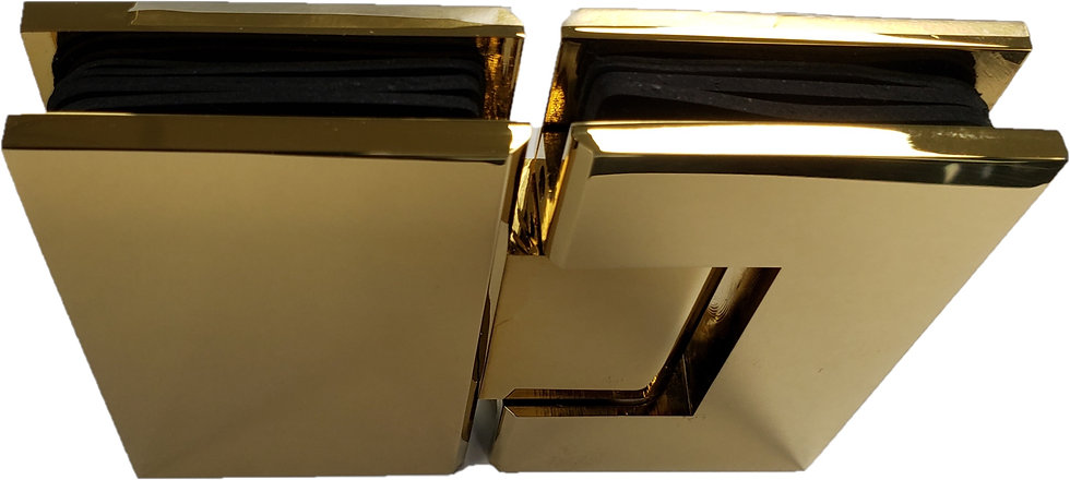 ISH222EDGP Gold Plated 180-Degree Glass to Glass Door Hinge