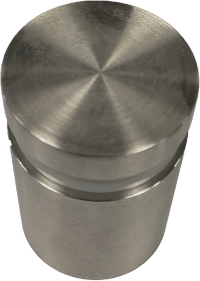 "ISO112112CBS Brushed Stainless Standoff Base 1-1/2"" X 1-1/2"" SS316"