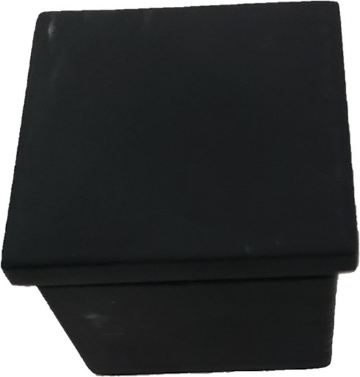 IEC2521SHRBL Matte Black Mini Square Cap Rail End Cap For 25mm x 21mm
