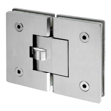 IDHSC2 Brushed Stainless Glass To Glass 180 Degree Self Closing Hinge