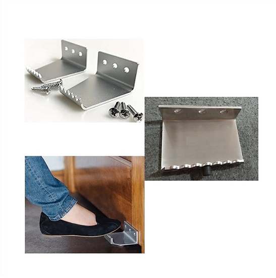 IGLEGPULLBS Brushed Stainless Leg Pull With Door Stopper
