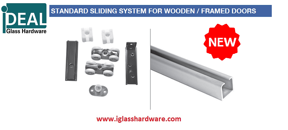ISLWD001 Wooden Sliding System Kit For 80kg Doors