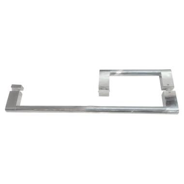 "ITB6X18EDBN Square Brushed Nickel 6""x18"" Towel Bar Combination With Metal Washer"