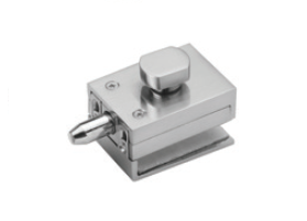 IPLTLBSS Brushed Stainless Square Wall To Glass Lock For 10-12mm