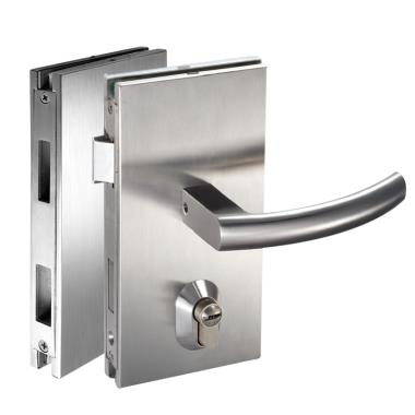 ISPLML111GBS Brushed Stainless Center Lock Glass To Glass Lock For 10-12mm Glass