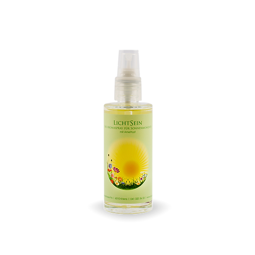 Bio Aromaspray LICHTSEIN mit Amethyst für Sonnenmomente