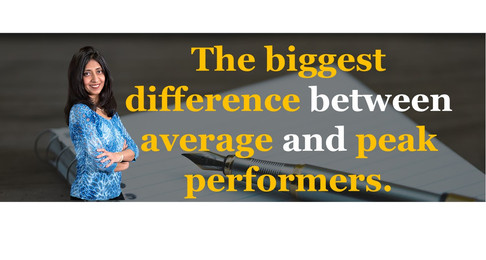 The Biggest Difference Between Average and Peak Performers