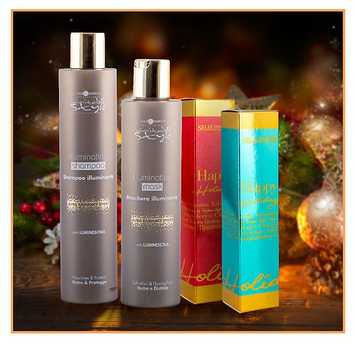 Коледен комплект – Шампоан и маска за повече блясък на косата + ПОДАРЪК