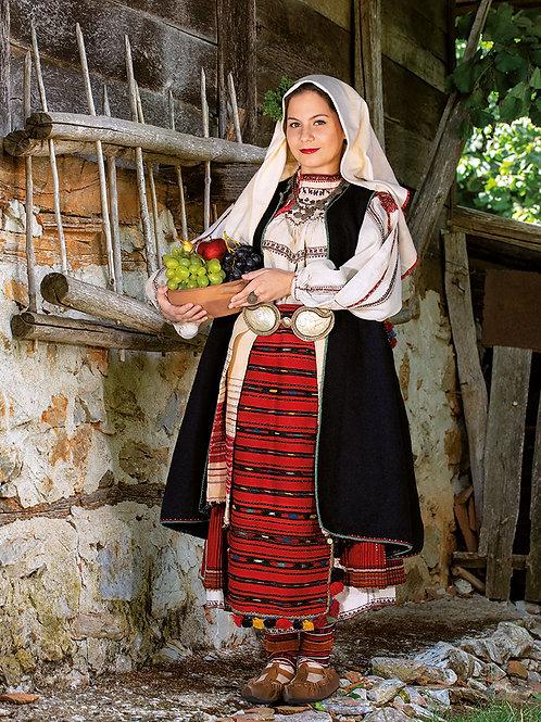 """Постер """"Празнична женска носия от с. Осеновлак, Ботевграско , XIX"""""""