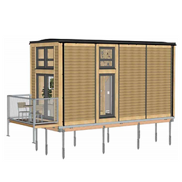 Bill Dunster Tiny House on Screw-Piles