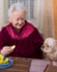 Old woman and her dog in the kitchen.jpg