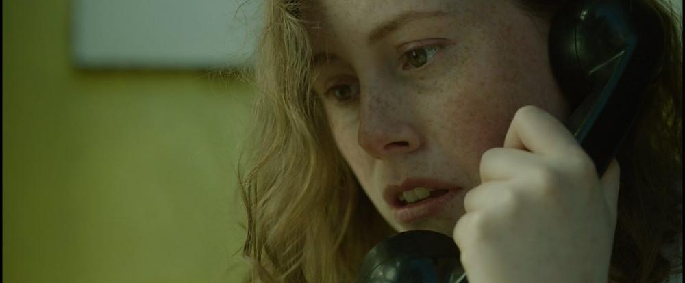 Bridget on the phone