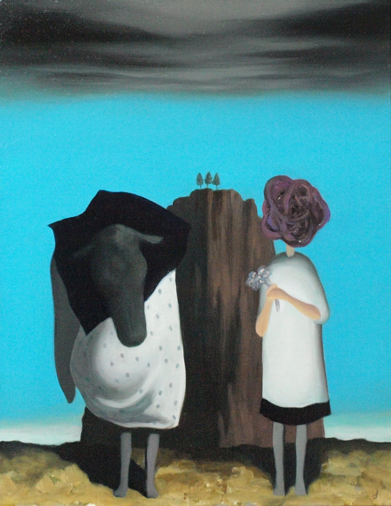 Flower,Human,Rock,Head of cow