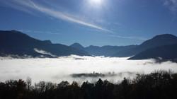 la vue avec les nuages