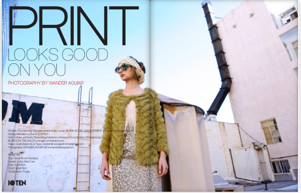 Scott Rich Skirt Dana Stein Fur Vest