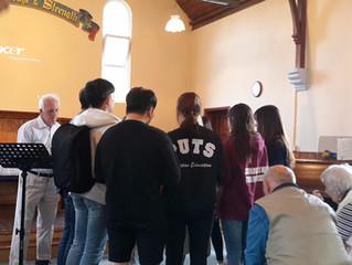 The Korean Prayer Warriors visited Winsor