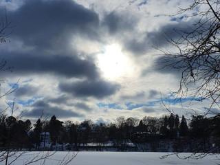 Wolken hoch