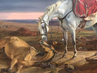 Ein Pferdekuss