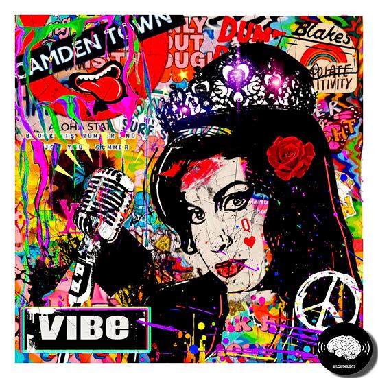 Amy Winehouse Digital Pop Art Print.