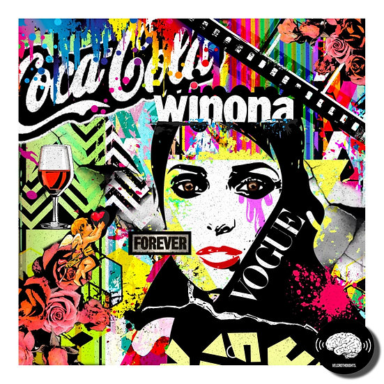 Winona Ryder Digital Pop Art Print.