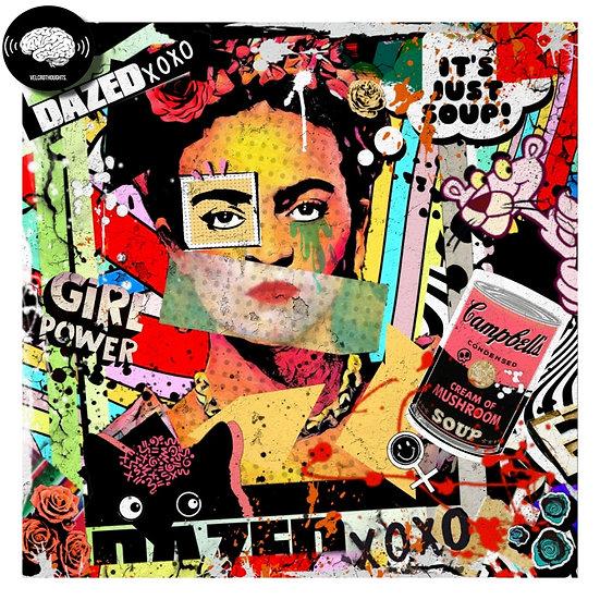 Frida Kahlo Digital Pop Art Print.