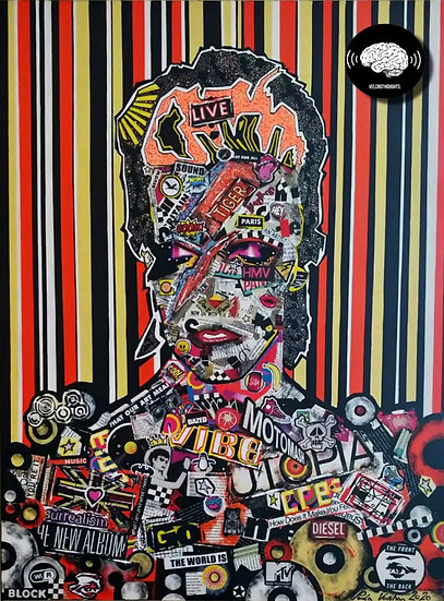 Untitled David Bowie Painting.