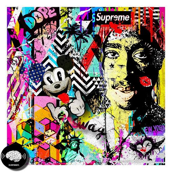 Tupac Digital Pop Art Print.