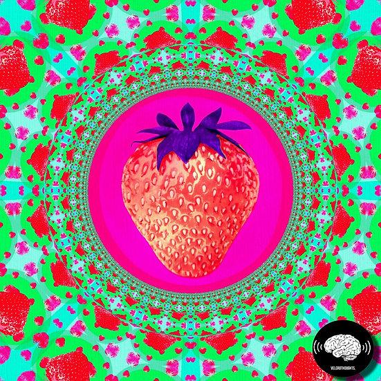 Untitled Strawberry Geometric Print.