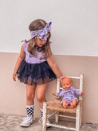 Bodysuit Barbie lilás