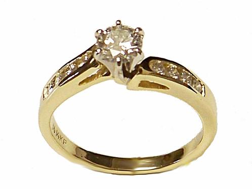 Yellow gold diamond anniversary ring abraham jewelers