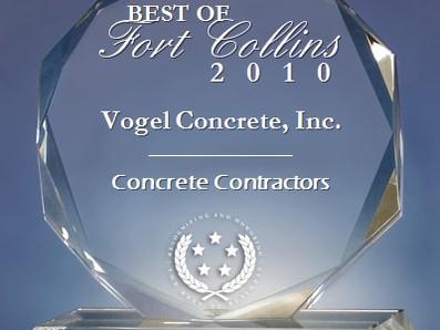 Vogel Concrete Wins Award