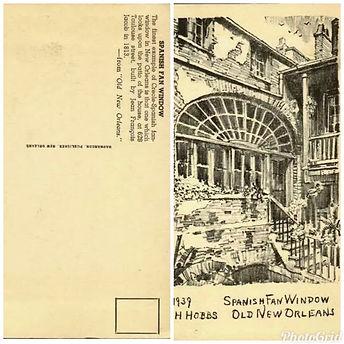 Spanish Fan Window New Orleans Postcard