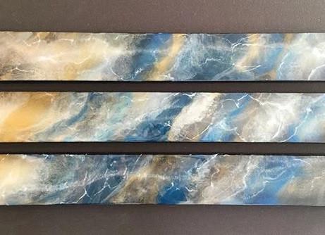 Blue Kyanite Triptych