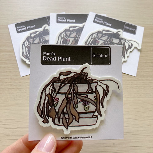 The Office - Pam's Dead Plant - Sticker