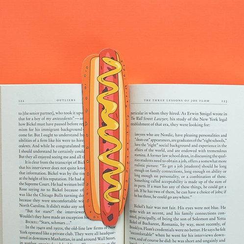 Hot Dog Bookmark (it's die cut!)