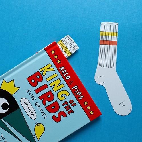 Sock Bookmark (it's die cut!)