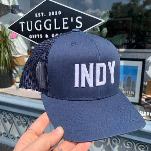INDY hat (NAVY trucker)