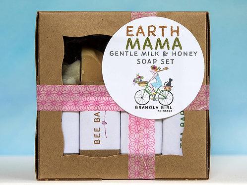 Earth Mama Soap Set- Gentle milk, honey and tea bars